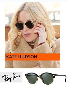 Η Kate Hudson με γυαλιά ηλίου Ray-Ban RB 4246 Clubround