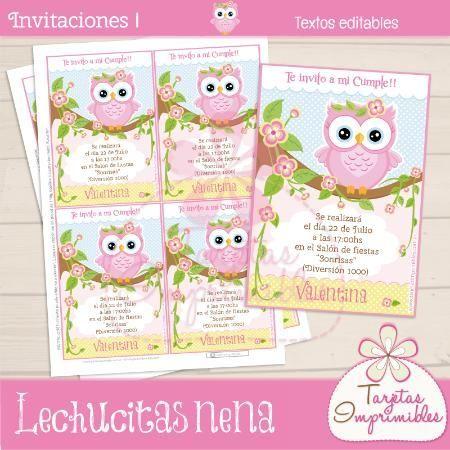 Invitaciones De Cumpleaños De Búho en Pinterest | Fiestas De ...