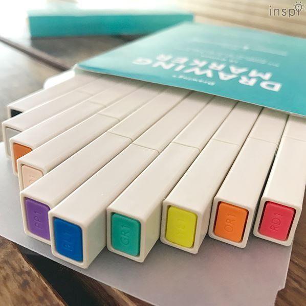 四角芯の固形グラフィックマーカー「Drawing Marker」