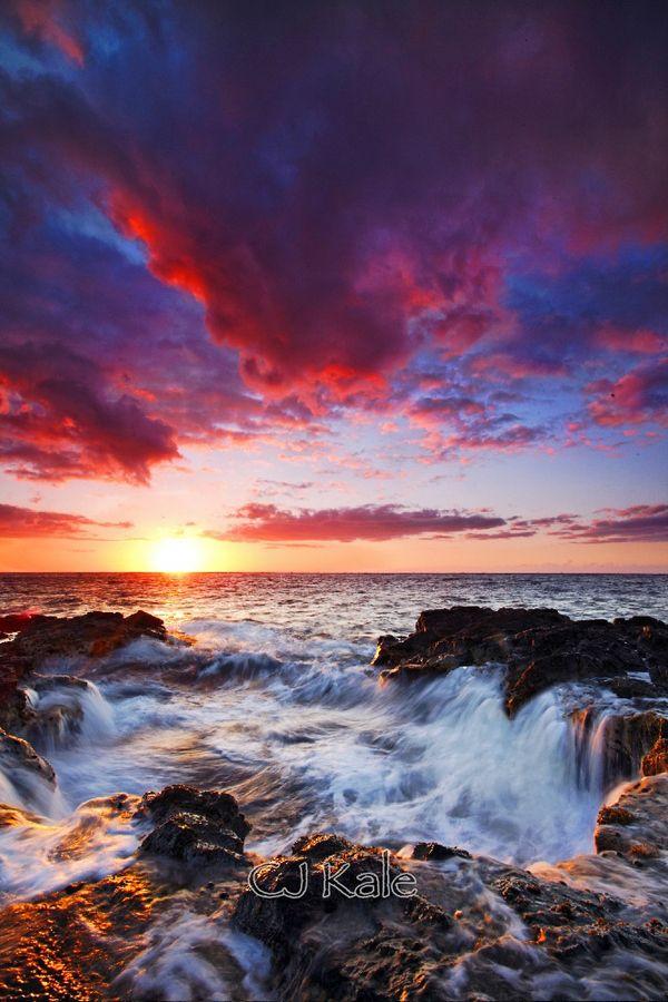 """Sunset down the drain!"" Kona, Hawaii, by Cj Kale, on 500px."