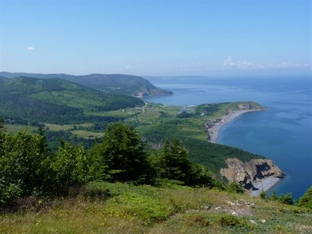A view of the Mabou coastline from the Fair Alistair's Trail in the Cape Mabou Highlands.