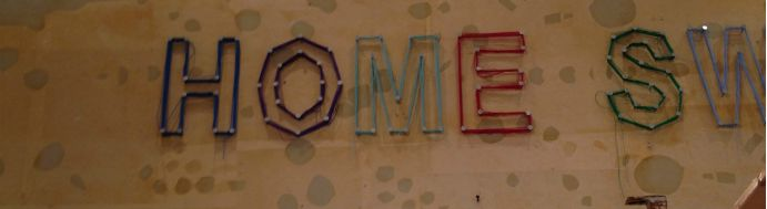 So, I was at Anthropologie the other day and saw these letters on the wall made with nails and string.  I took this quick photo while I was browsing.  Love Anthropologie...so inspiring.  So I thought I'd go home and try to make my own nail and string letters.
