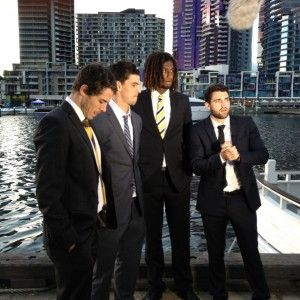 Alex Fasolo and Isaac Smith chat to Be The Influence ambassadors Scott Pendlebury and Nic Naitanui at the 2013 Be The Influence AFL Players' MVP Awards.