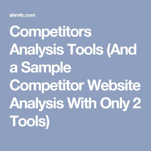 Πάνω από 25 κορυφαίες ιδέες για Competitor analysis στο Pinterest - sample analysis