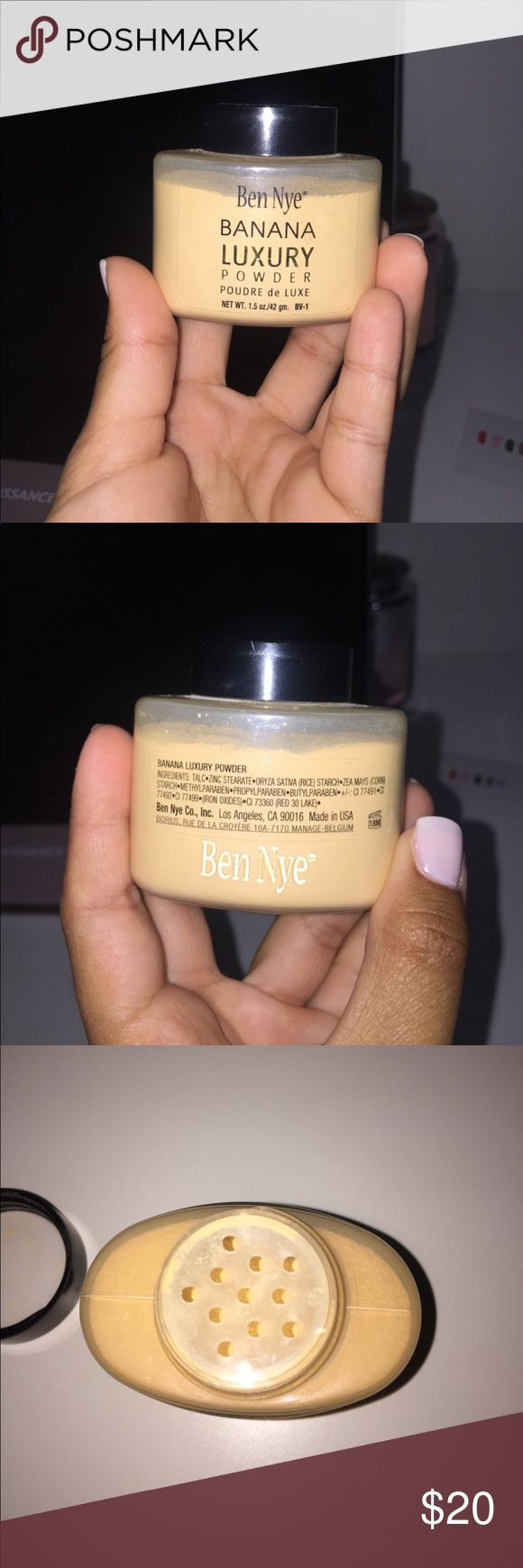 Ben Nye Banana Luxury Powder Very nice powder! Only used twice. I don't use powder anymore. 100% authentic Ben Nye Makeup Face Powder