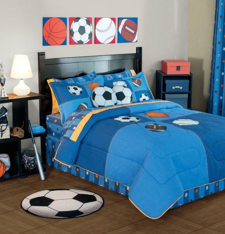 Pelotas my nephew has this comforter set and it looks for Decoracion de cuartos para nina de 7 anos