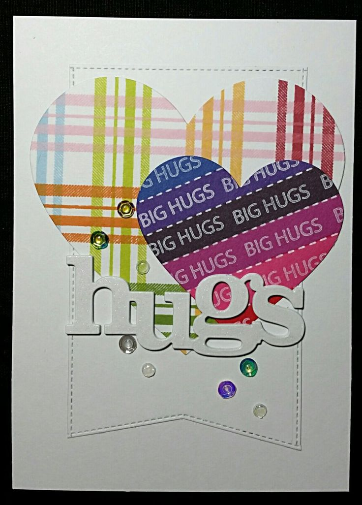 My Favorite Things Stamps Plaid Builder Stamp Set Simon Says Stamp Jumbo Stripes Stamp Set  Jumbo tag cut with both My Favorite Things Die-namics Stitched Basic Edges Die-Namics sets.  Hugs Winnie&Walter Creative Cuts