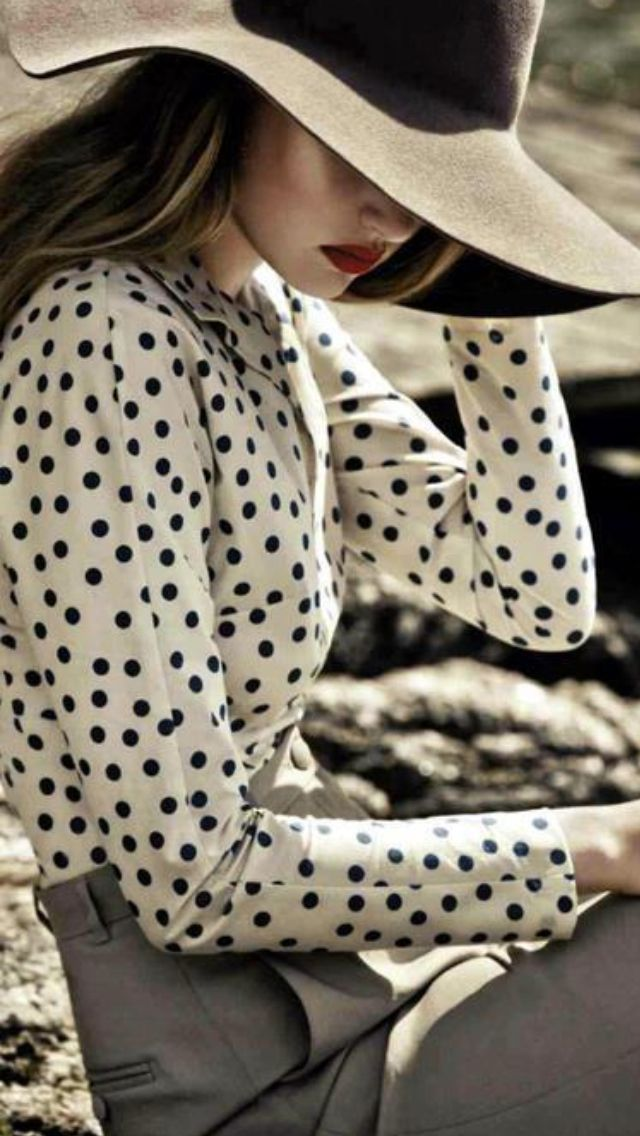 GENERAL STYLE: Polka dots are great when edgy and not cutesy