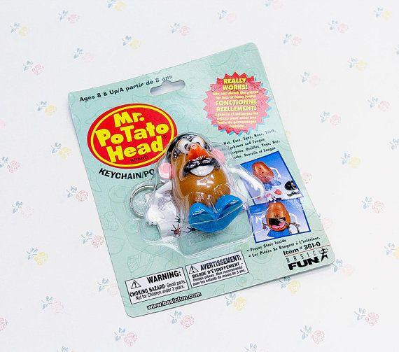 1990s Mr Potato Head Toy Keychain Gift for Kids Vintage Toy