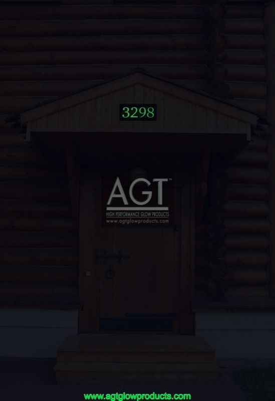 AGT Glowing House numbers on cabin - NIGHT_3298
