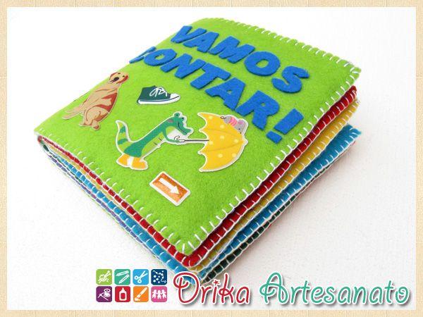 Novo modelo de livro de feltro - Drika Artesanato