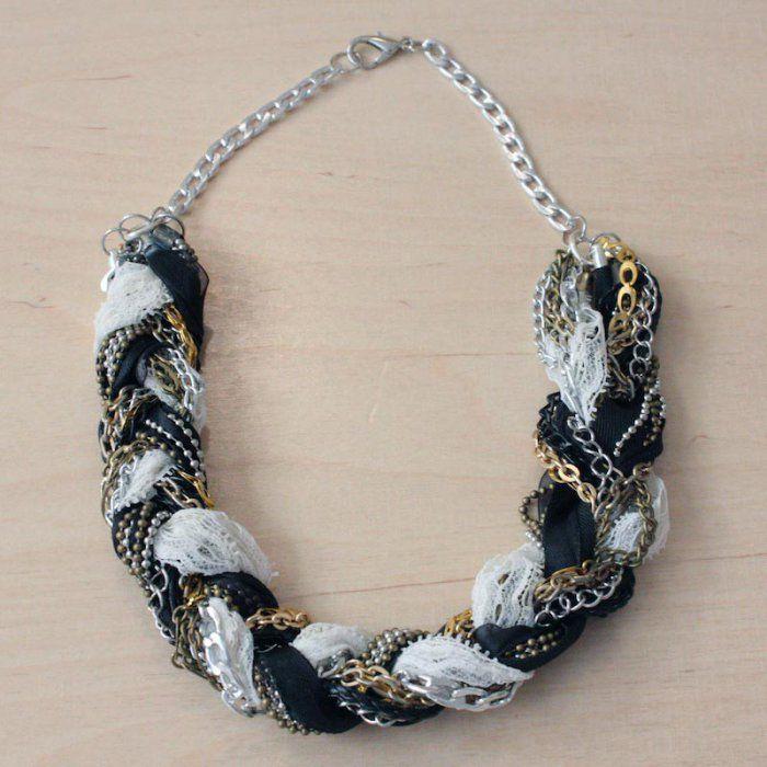 Un collier tressé romantico-rock
