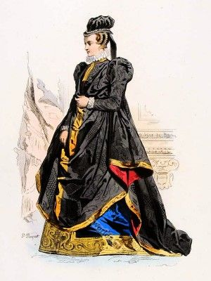Lady of the french court in spanish fashion; Reign of Charles IX 1579. London, 1839.
