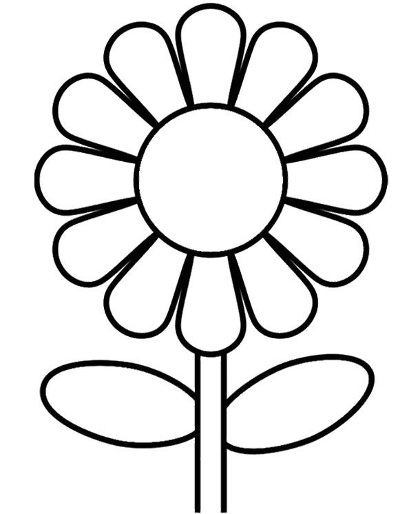 Sunflower Coloring Page Kids Coloring Pages Flower Coloring