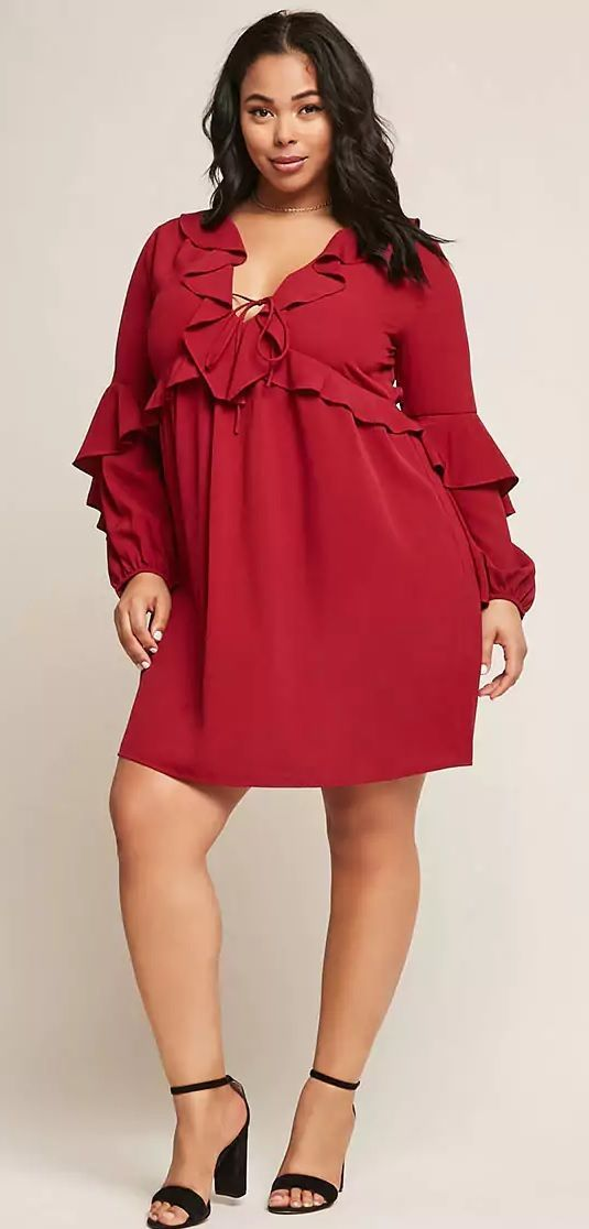 Plus Size Ruffled Tunic - Plus Size Party Dress #plussize