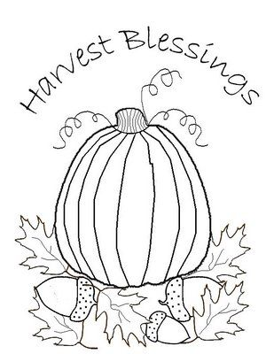 *Freebie* Harvest Blessings Stitchery