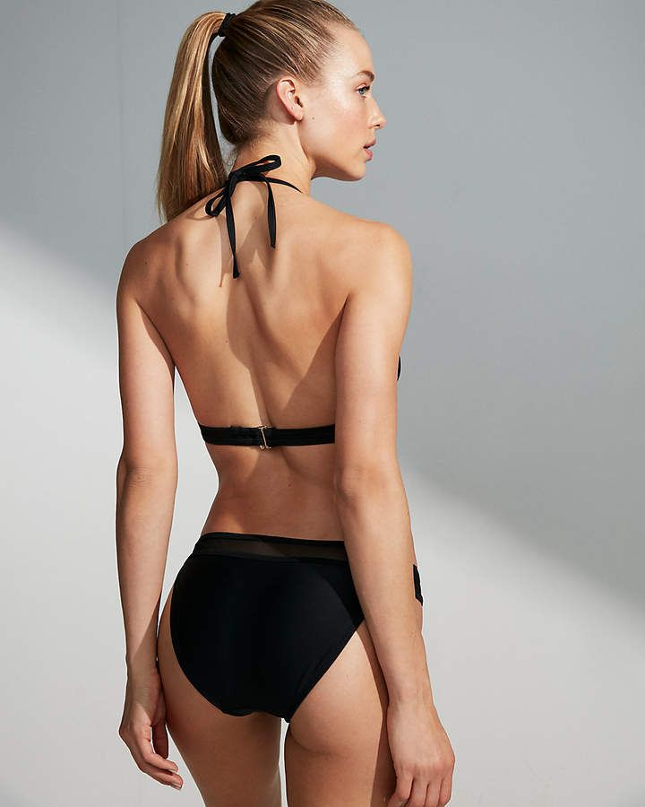 2a27a113e3815 Express Mesh Banded Triangle Bikini Top #Banded#Mesh#Express | Women's  Swimsuits High Waist in 2019 | Bikinis, Triangle bikini top, Bikini tops