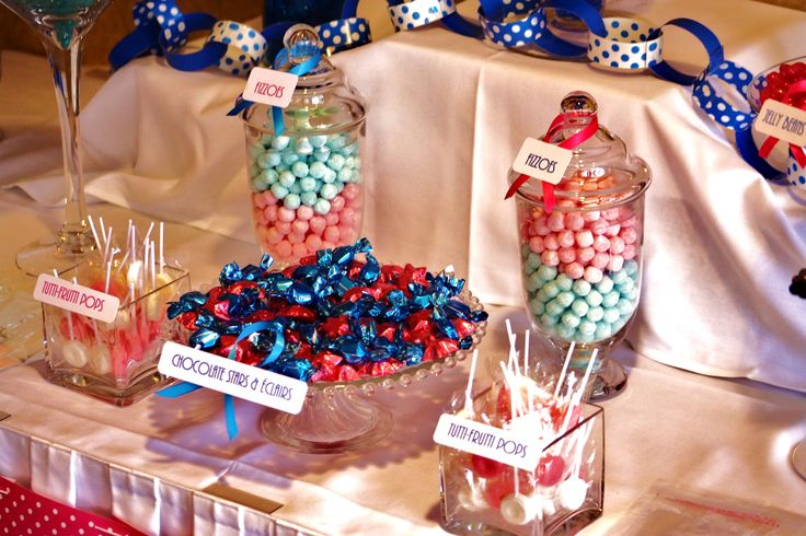 Kids birthday candy buffet