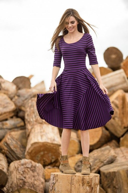 Striped Alana Dress from the Timbers and Twine Collection by Shabby Apple