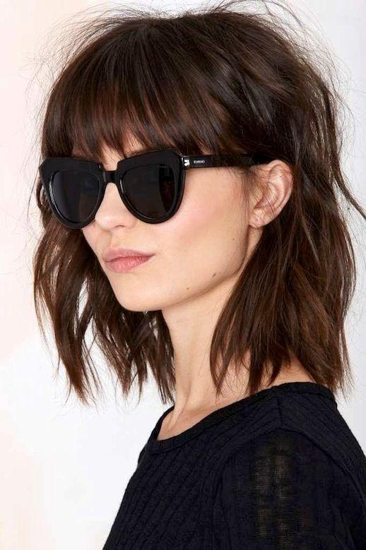 Terrific 1000 Ideas About Thick Hair Bangs On Pinterest Medium Layered Short Hairstyles Gunalazisus