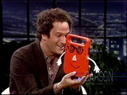 """▶ Albert Brooks and his electronic friend """"Buddy"""" on The Tonight Show Starring Johnny Carson"""