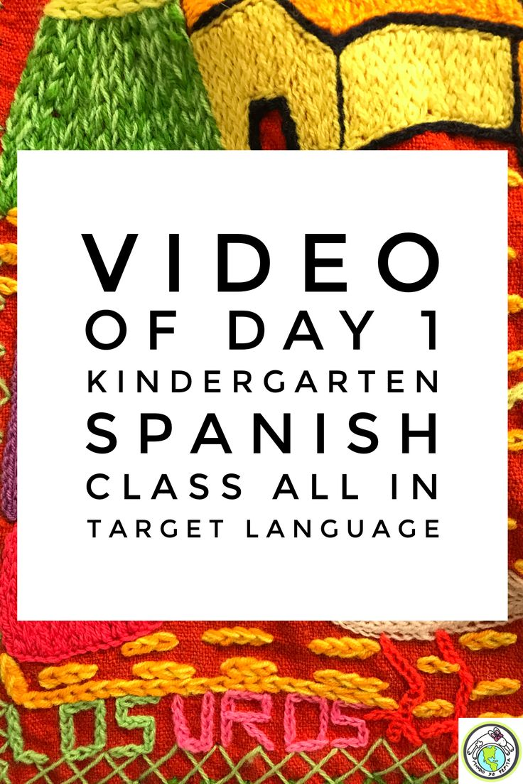 VIDEO of 1st Kindergarten Spanish class of the year COMPLETELY in Spanish. Introductions and names are covered with COMPREHENSIBLE INPUT. Mundo de Pepita, Resources for Teaching Spanish to Children