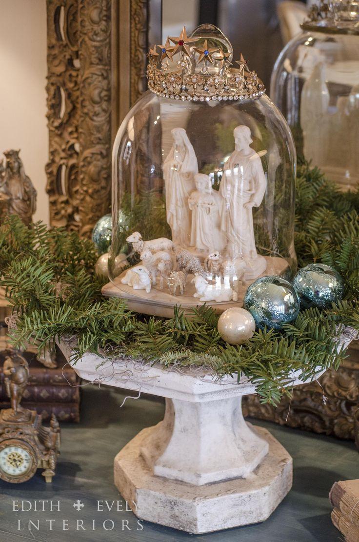 great way to display my nativity set x mas deko winter. Black Bedroom Furniture Sets. Home Design Ideas