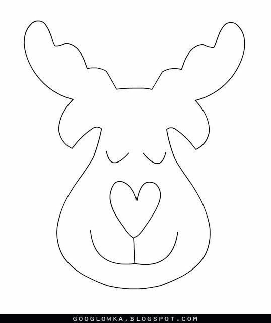 ARTESANATO COM QUIANE - Paps,Moldes,E.V.A,Feltro,Costuras,Fofuchas 3D: Molde Rena nariz de coração