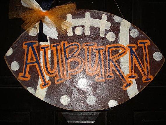auburn football signs | Auburn polka dot football door decor wall by ... | Auburn Football