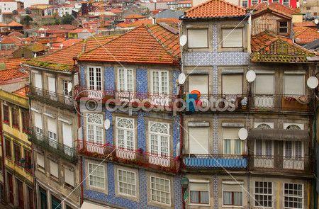 staré domy porto, Portugalsko — Stock obrázek #28274979