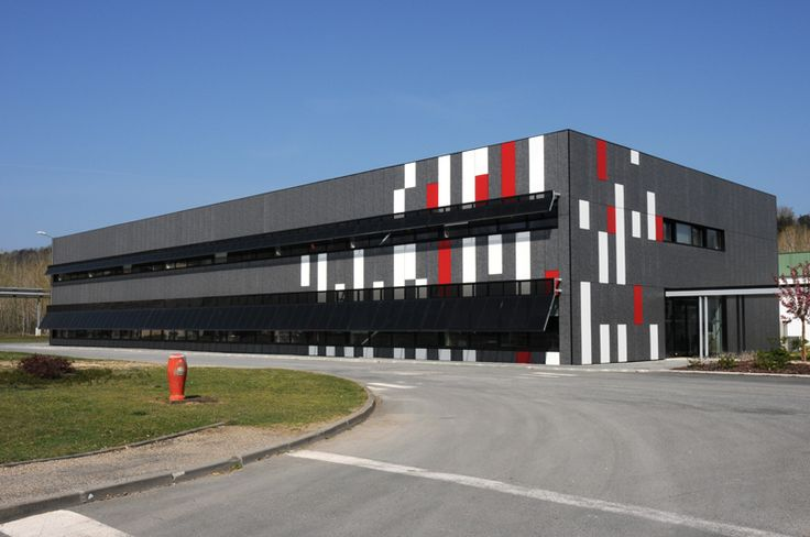Office building  compact extérieur #laminate #polyrey