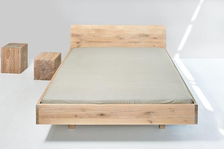 Doppelbett aus Holz QUADRA by Vitamin design