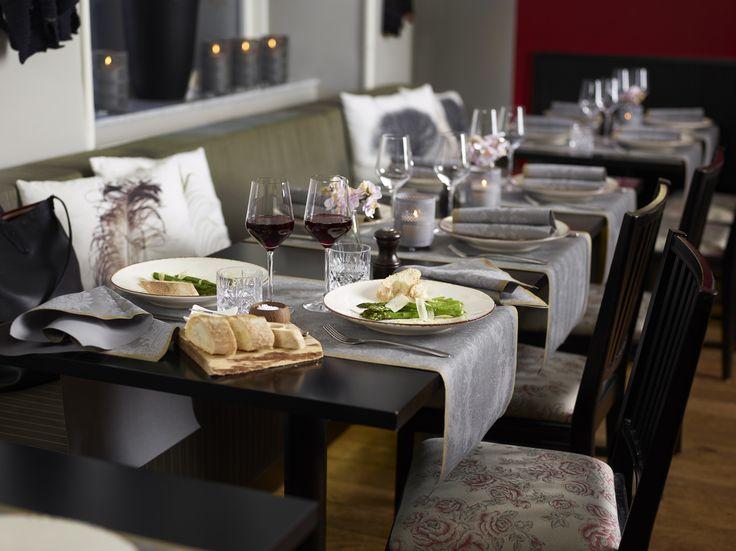 Duni Tischläufer für den festlichen Tisch silber grau gold