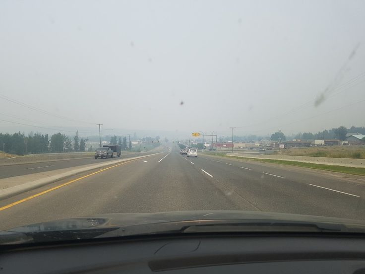 Smoky skies blanketing 100 mile house B.C during Gustafson wildfire, B.C.wildfires 2017