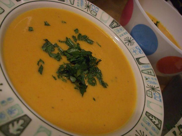 zuppa di carote allo zenzero