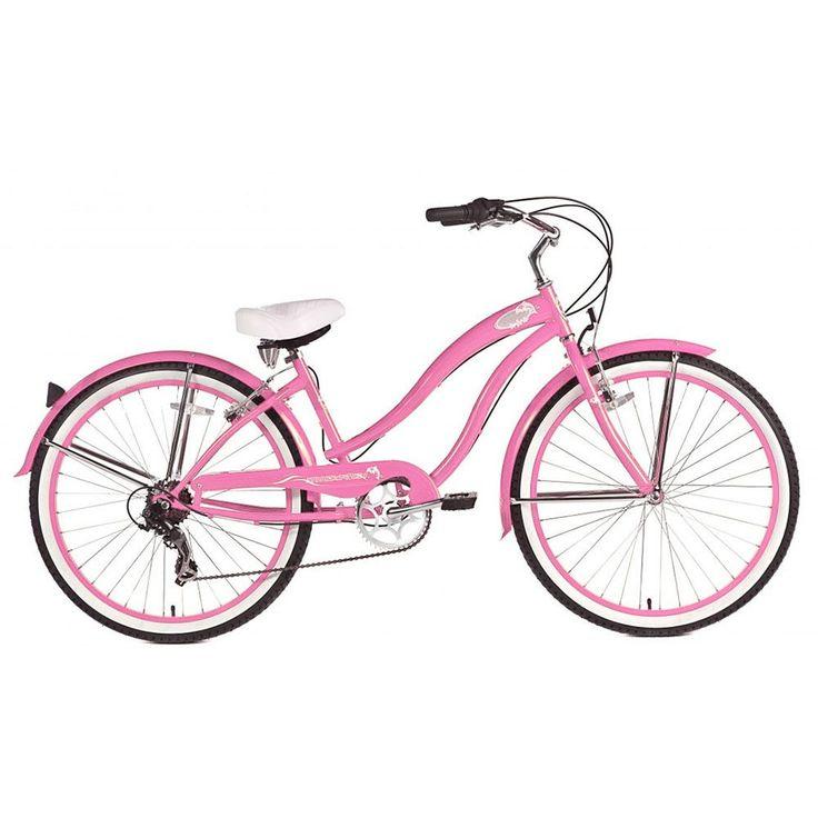 Micargi Pink Rover 7 Sp Beach Cruiser Female Bike