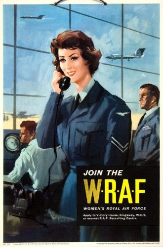 Join the W.R.A.F. (Women's Royal Air Force.) Original chromolithograph printed for H.M. Stationary Office by Jordison & Co. London, c.1960.