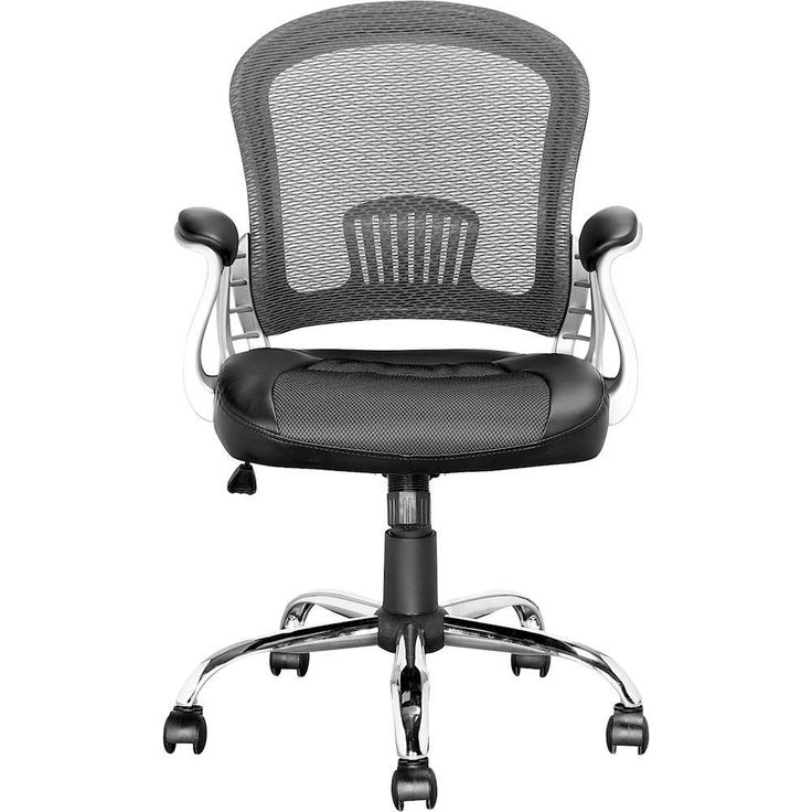 CorLiving - Workspace 5-Pointed Star Fabric/Leatherette/Mesh Executive Chair - Black