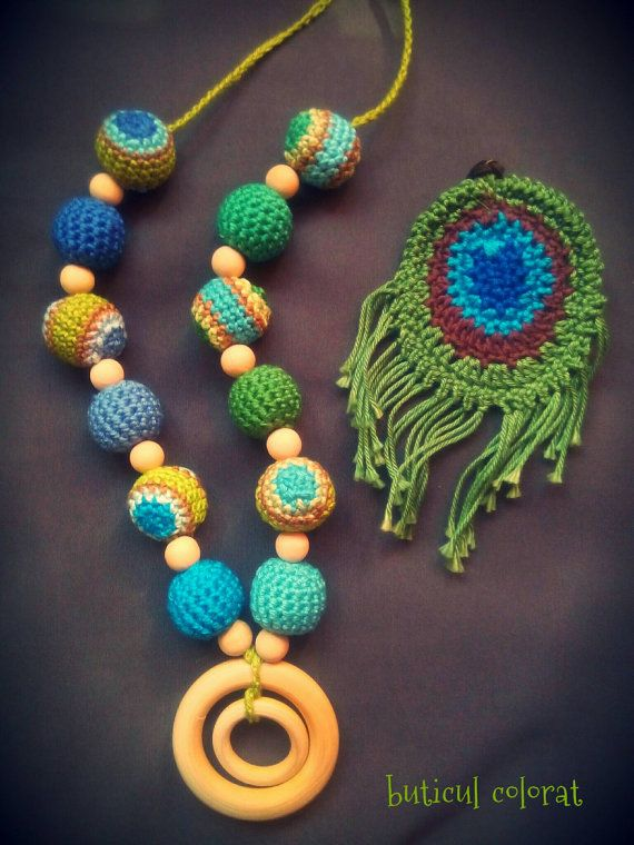 Check out this item in my Etsy shop https://www.etsy.com/listing/293744709/peacock-inspiration-teething-necklace