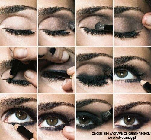 Fantastic instructions for a classic smokey eyeshadow look