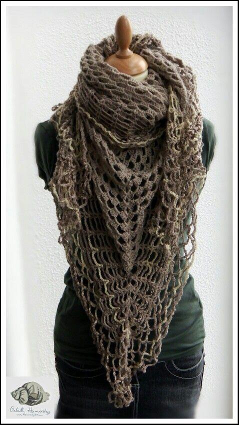 #Crochet gypsy #shawl by www.hamersleyart.com #Needlework
