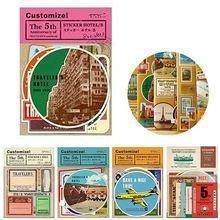 Nice Vintage Reizen Dagboek DIY Plakboek Decoratie Kalender Fotopapier Sticker Album Scrapbooking DIY Album Decoratie(China (Mainland))
