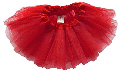 Dancina Baby Girls' Toddlers Tutu Classic Triple Layer Tulle 6 to 18 Months Plus Cardinal Red