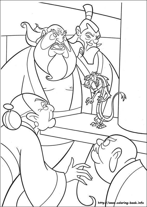 Mejores 25 imágenes de Mulan en Pinterest   Libros para colorear ...