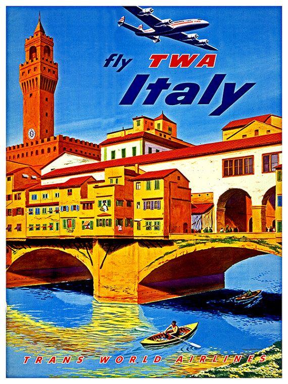 Italiaanse Poster Wall Art Italië reizen Print door Blivingstons
