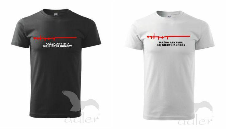 koszulka każda arytmia się kiedyś kończy - emedlink.pl