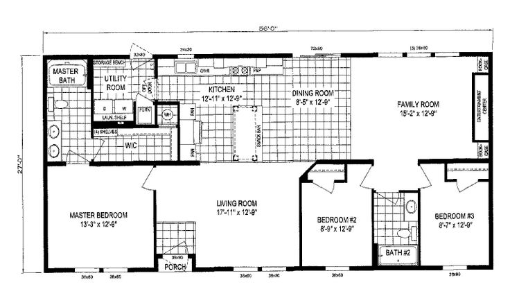 28x56 Floor Plan Click For Floorplan Floor Plan