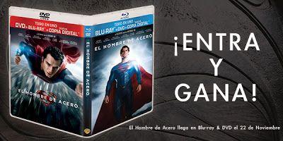 CONCURSO: Gana un DVD+Blu-ray+Copia digital de 'El hombre de acero' gracias a Warner Bros y Making Of