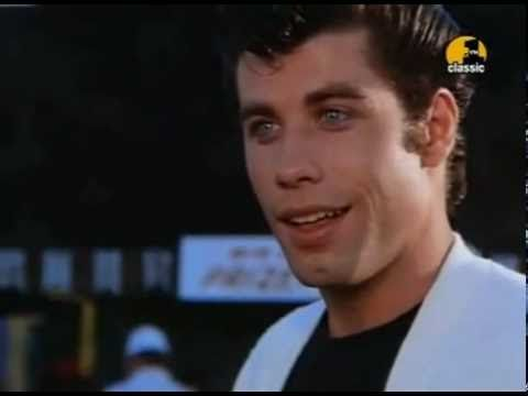 """'Tell me about it STUD!"""" Love this movie!!! <3 Might need to have a Grease marathon soon.  And YES, I liked Grease 2 too!!  Not many will admit that. Grease   You Are The One That I Want HQ1"""