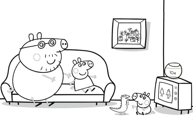 Daddy Pig - Watching television | Create | Nick Jr